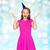 szczęśliwy · młoda · kobieta · teen · girl · strony · cap · ludzi - zdjęcia stock © dolgachov