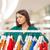 figyelmes · fiatal · nő · választ · ruházat · bevásárlóközpont · vásár - stock fotó © dolgachov