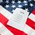 lege · stemmen · stemming · Amerikaanse · vlag · verkiezing - stockfoto © dolgachov