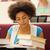 афроамериканец · студент · школы · книгах · довольно - Сток-фото © dolgachov