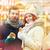 jovem · belo · casal · turistas · velho · cidade - foto stock © dolgachov