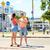 十代の · カップル · ライディング · 街 · 夏 · 休日 - ストックフォト © dolgachov