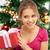 gelukkig · opgewonden · jonge · mooie · christmas · vrouw - stockfoto © dolgachov