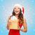 mutlu · kadın · hediye · kutusu · beyaz · gülümseme · doğum · günü - stok fotoğraf © dolgachov