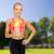 fitness · instruktor · białko · shake · butelki · kobieta - zdjęcia stock © dolgachov