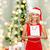 blanche · rouge · arbre · de · noël · salle · vide · décoré - photo stock © dolgachov