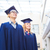 grupo · sorridente · estudantes · educação · graduação · gesto - foto stock © dolgachov