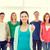 Studenten · lächelnd · Vorderseite · stehen - stock foto © dolgachov