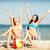 lányok · napozás · strandszékek · nyár · ünnepek · vakáció - stock fotó © dolgachov