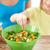 nő · készít · saláta · konyha · mosolyog · nevet - stock fotó © dolgachov
