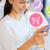 mosolygó · nő · okostelefon · vásárlás · online · emberek · online · vásárlás - stock fotó © dolgachov