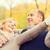 lächelnd · Paar · Herbst · Park · Liebe · Beziehung - stock foto © dolgachov
