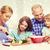mutlu · aile · iki · çocuklar · akşam · yemeği · ev - stok fotoğraf © dolgachov
