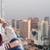 szomorú · csinos · tinilány · ül · ablakpárkány · emberek - stock fotó © dolgachov