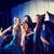 mutlu · şarkı · söyleme · karaoke · gece · klübü · parti - stok fotoğraf © dolgachov
