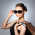 happy woman in black sunglasses with shopping bags stock photo © dolgachov