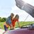 mujeres · abierto · coche · roto · carretera · viaje - foto stock © dolgachov