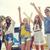 groupe · amis · danse · festival · de · musique · parc - photo stock © dolgachov