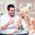 casal · casamento · bolos · tabela - foto stock © dolgachov