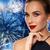 beautiful woman in black over dark background stock photo © dolgachov