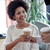 女性実業家 · コーヒーブレイク · 女性 · 紙 · 顔 - ストックフォト © dolgachov