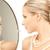 глядя · зеркало · девушки · лице · женщины - Сток-фото © dolgachov