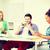diákok · néz · eszközök · iskola · oktatás · internet - stock fotó © dolgachov