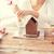 mosolygó · nő · sütés · kekszek · otthon · boldog · konyha - stock fotó © dolgachov