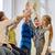 группа · школы · дети · high · five · жест - Сток-фото © dolgachov