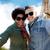 happy couple taking selfie over eiffel tower stock photo © dolgachov