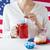 vrouw · vieren · amerikaanse · dag · viering · vakantie - stockfoto © dolgachov