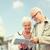 starszy · para · ulicy · miasta · rodziny · wiek · turystyki · podróży - zdjęcia stock © dolgachov
