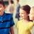 öğrenme · birlikte · üç · çocuklar · okuma - stok fotoğraf © dolgachov