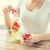 gelukkig · vrouw · vergadering · tabel · vers - stockfoto © dolgachov