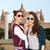 boldog · mosolyog · csinos · tinilányok · napszemüveg · emberek - stock fotó © dolgachov