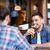 dwóch · mężczyzn · mówić · piwa · bar · mężczyzn · publikacji - zdjęcia stock © dolgachov