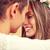 feliz · sorridente · jovem · hippie · casal · ao · ar · livre - foto stock © dolgachov