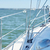 close up of sailboat or sailing yacht deck in sea stock photo © dolgachov
