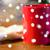красный · деревянный · стол · праздников · Рождества - Сток-фото © dolgachov