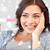 nő · terhességi · teszt · boldog · néz · izgatott · terhes - stock fotó © dolgachov