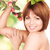 happy woman with apple twig stock photo © dolgachov