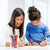 mother and daughter drawing stock photo © dolgachov