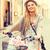 女性 · 若い女の子 · バイク · 屋外 · 笑顔の女性 · 笑みを浮かべて - ストックフォト © dolgachov