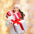 smiling young woman in santa helper hat with gifts stock photo © dolgachov