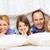 baba · iki · çocuklar · oynama · yatak · eğlence - stok fotoğraf © dolgachov