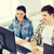 молодые · колледжей · студентов · говорить · изучения · университета - Сток-фото © dolgachov