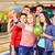 szczęśliwy · znajomych · smartphone · bowling · klub · ludzi - zdjęcia stock © dolgachov