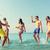 gelukkig · vrienden · water · samen · strand - stockfoto © dolgachov
