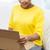 levering · vrouw · pakket - stockfoto © dolgachov