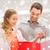 feliz · casal · vermelho · neve · pessoas - foto stock © dolgachov